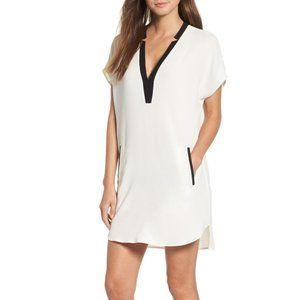 ASTR The Label Crepe Shift Dress White/Black